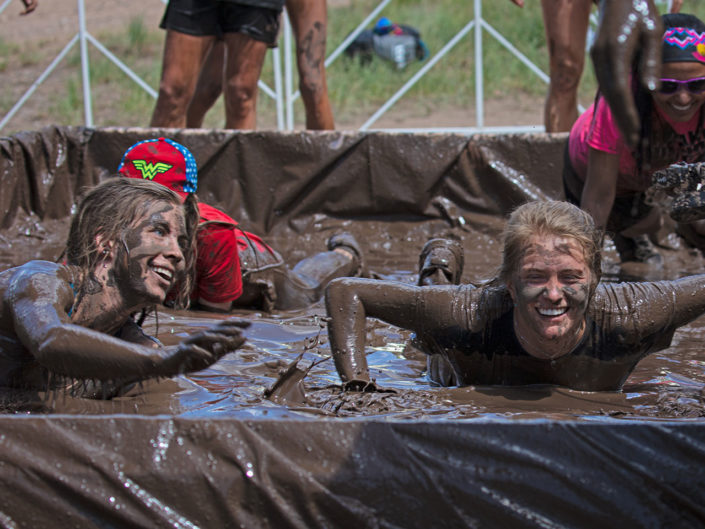 Go Pro mud obstacle course