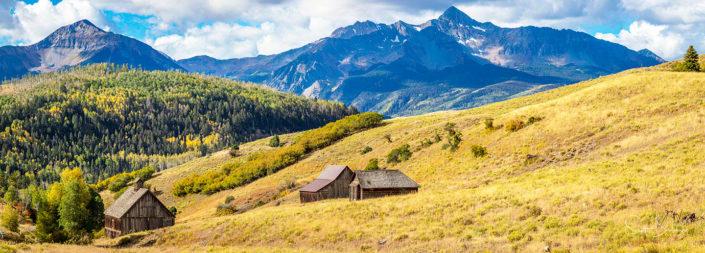 Telluride rustic cabins. Telluride, Colorado.