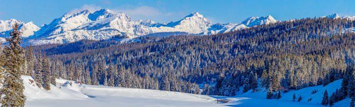 Minus Eight Degrees, Vail Pass, Colorado, Ultra wide panaorama